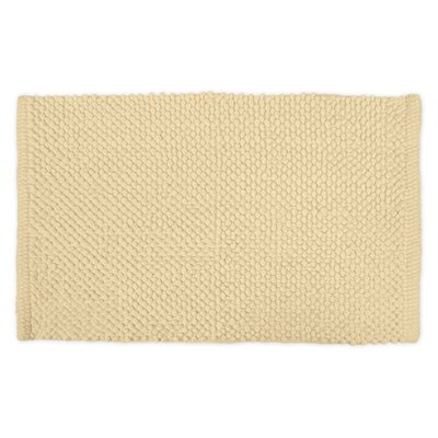 Torino Popcorn Bath Rug Color: Cream