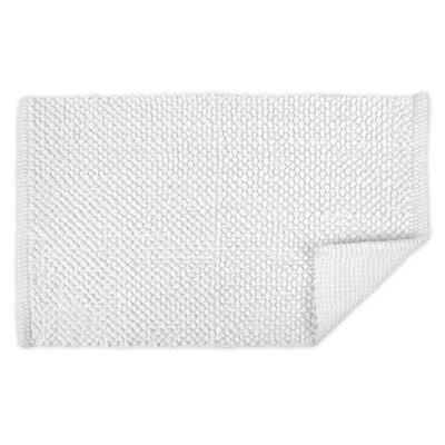 Torino Popcorn Bath Rug Color: White