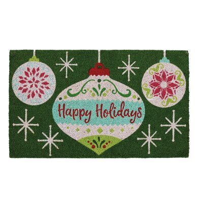 Holiday Ornaments Doormat