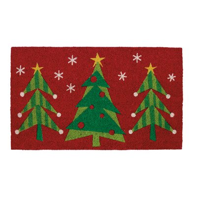 Xmas Tree Trio Doormat