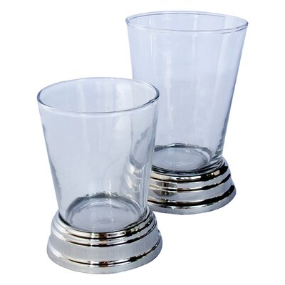 "UrnsDirect2U Glass/Nickel Tumbler (Set of 6) - Size: 4.5"" H x 3.5"" W x 3.5"" D at Sears.com"