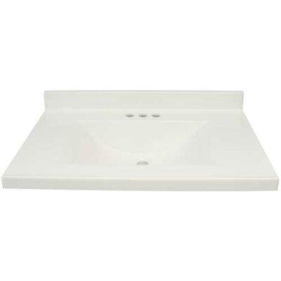 25 Single Bathroom Vanity Top Finish: White