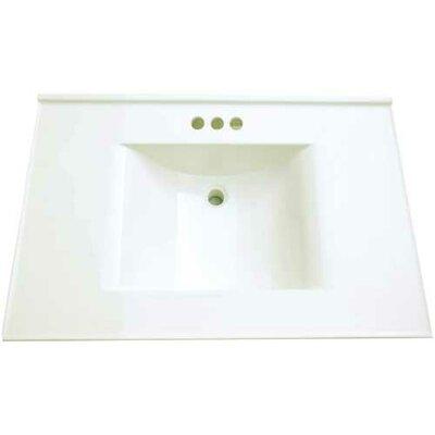 37 Single Bathroom Vanity Top Finish: White