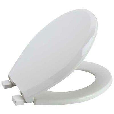 Slow-Close Round Toilet Seat Finish: White