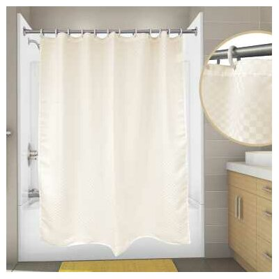 Premier Satin Box Shower Curtain Color: Champagne