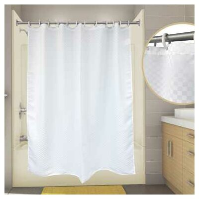 Premier Satin Box Shower Curtain Color: White