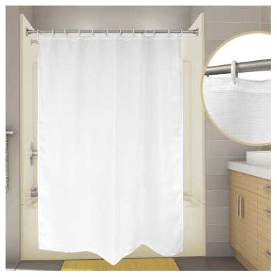 Cotton Premier Waffle Shower Curtain Color: White