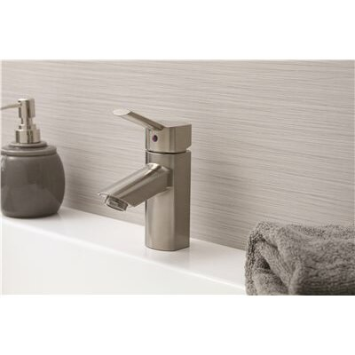 Single Handle Lavatory Faucet with Popup Finish: Brushed Nickel