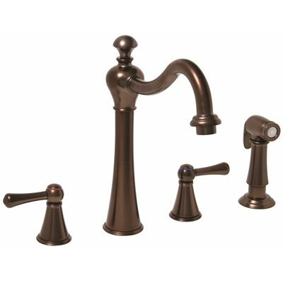 Double Handle Kitchen Faucet with Sprayer