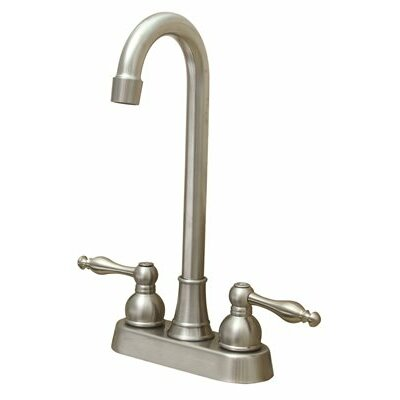 Wellington Double Handle Bar Faucet Finish: Brushed Nickel