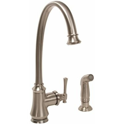 Torino Single Handle Kitchen Faucet Finish: Brushed Nickel