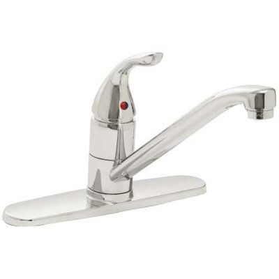 Caliber Single Handle Kitchen Faucet Finish: Chrome