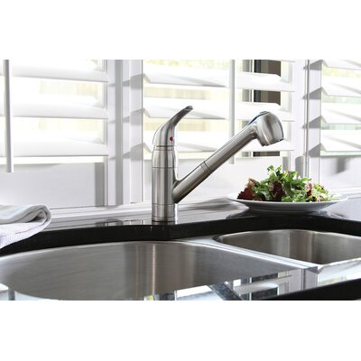 Caliber Single Handle Pull Out Standard Kitchen Faucet with Spray Spout