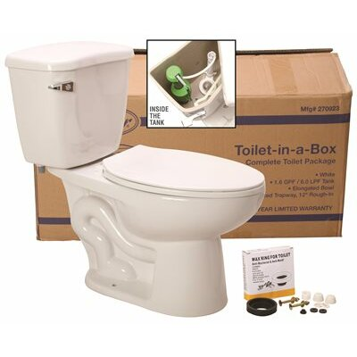 Waterfront? Watersense 1.28 GPF Round Two-Piece Toilet