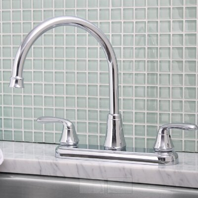 Waterfront� Double Handle Kitchen Faucet Finish: Chrome