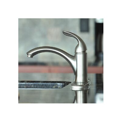 Waterfront Single Handle Kitchen Faucet Finish: Brushed Nickel