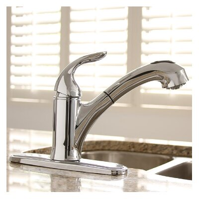 Waterfront� Single Handle Kitchen Faucet Finish: Chrome