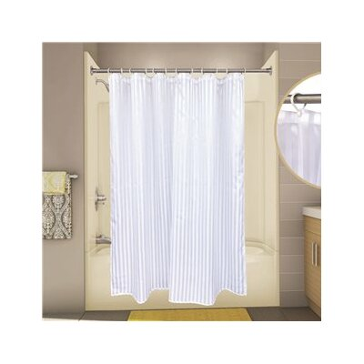 Tuxedo Stripe Shower Curtain Color: White
