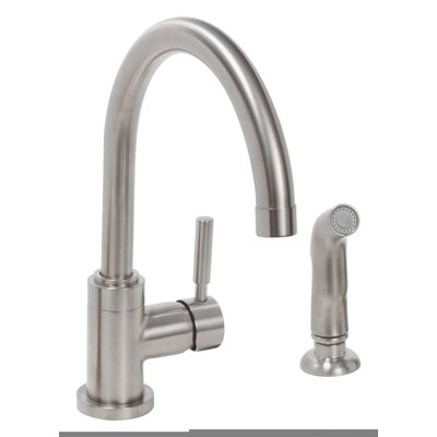 Essen� Single Handle Kitchen Faucet with Side Spray Optional Deck Plate