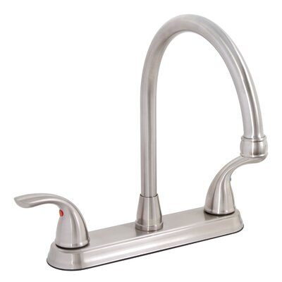 Westlake Double Handle Kitchen Faucet Finish: Brushed Nickel