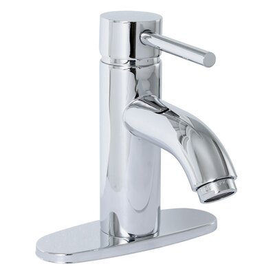 Essen Single Handle Lavatory Faucet with Optional Deck Plate Finish: Chrome