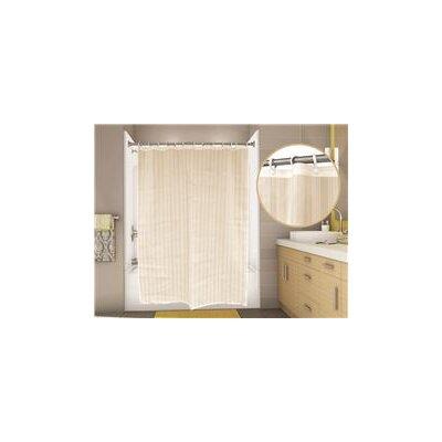 Classic Stripe Shower Curtain Color: Champagne