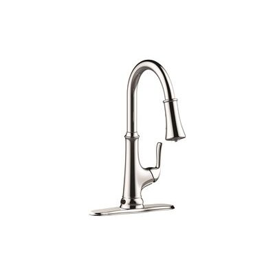 Sensor Single Handle Pull Down Kitchen Faucet with LED Light Finish: Chrome