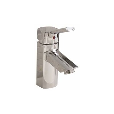 Single Hole Faucet Single Handle Bathroom Faucet with Drain Assembly Finish: Chrome