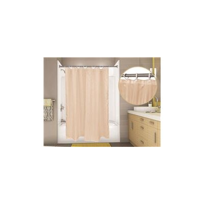 Tuxedo Stripe Shower Curtain Color: Sahara