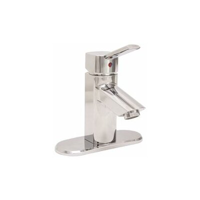 Single Handle Deck Mounted Centerset Lever Bathroom Faucet Finish: Chrome