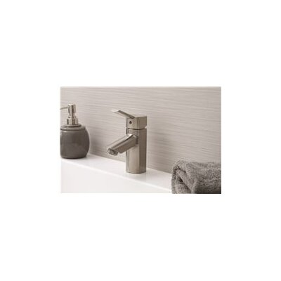 Single Hole Faucet Single Handle Bathroom Faucet with Drain Assembly Finish: Brushed Nickel