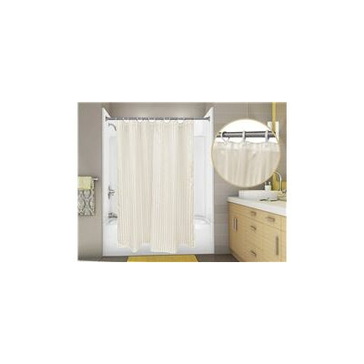 Tuxedo Stripe Shower Curtain Color: Champagne