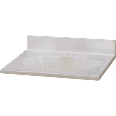 Cultured Marble 37 Single Bathroom Vanity Top