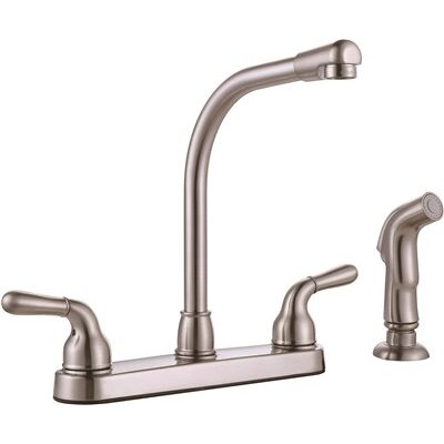 Two-Handle Kitchen Faucet with Side Spray