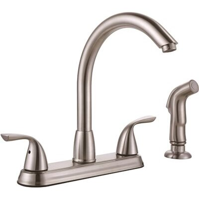 Standard Kitchen Faucet with Side Spray Finish: Brushed Nickel