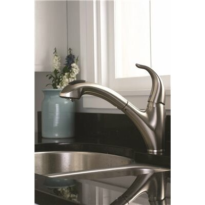 Sanibel� Single Handle Pull Out Kitchen Faucet Finish: Brushed Nickel