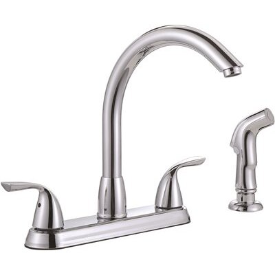 Standard Kitchen Faucet with Side Spray Finish: Chrome