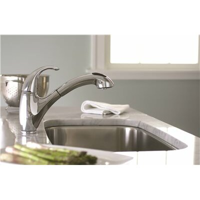 Sanibel� Single Handle Pull Out Kitchen Faucet Finish: Chrome