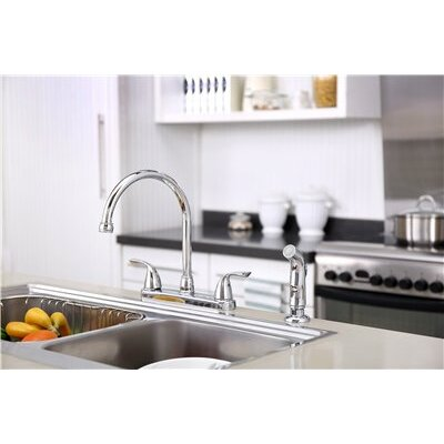 Sanibel� Double Handle Kitchen Faucet with Side Spray