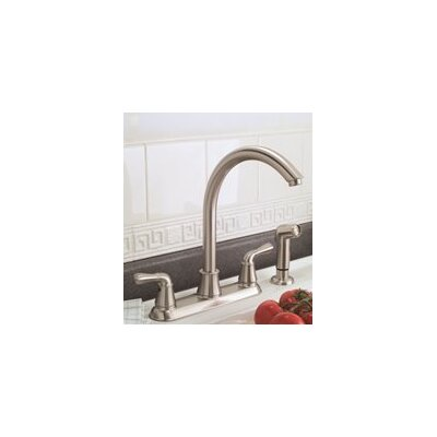 Double Handle Standard Kitchen Faucet with Side Spray