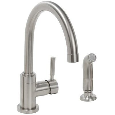 Essen Single Metal Lever Handle Kitchen Faucet with Spray