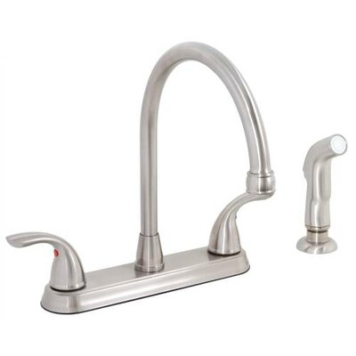 Westlake Double Handle Kitchen Faucet with Side Spray