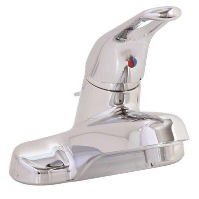 Bayview Lavatory Centerset Single Handle Bathroom Faucet Flow Rate: 1.2 GPM