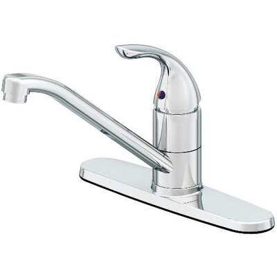Caliber Single Handle Standard Kitchen Faucet Finish: Chrome