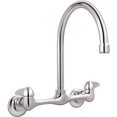 Bayview� Wall Mounted Double Handle Bathroom Faucet