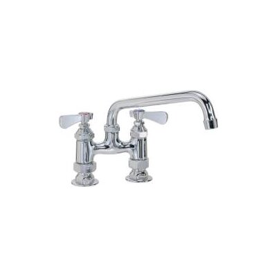 Commercial Double Handle Standard Kitchen Faucet with Spout