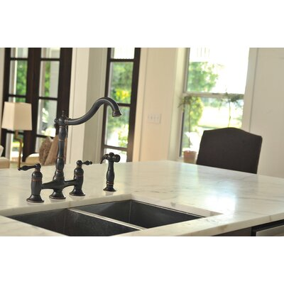 Charlestown Bridge Double Handle Standard Kitchen Faucet