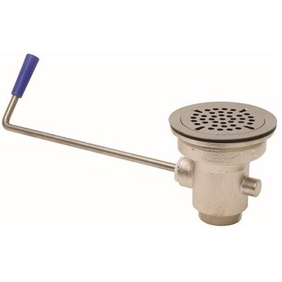 Commercial Strainer Twist Handle 2 Grid Bathroom Sink Drain