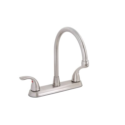 Bayview Double Handle Kitchen Faucet Finish: Brushed Nickel (PVD)