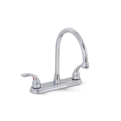 Bayview Double Handle Kitchen Faucet Finish: Chrome